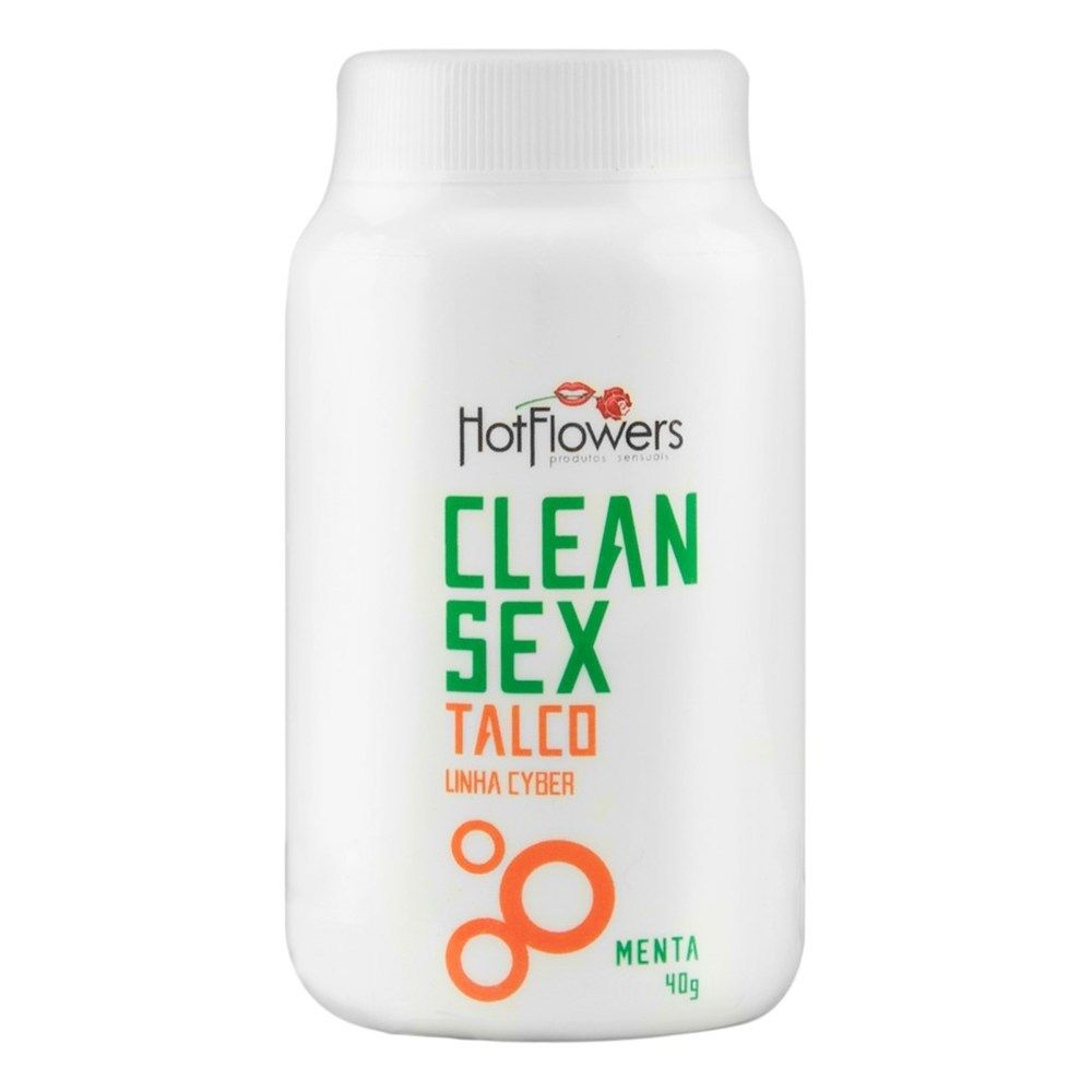 CLEAN SEX TALCO LINHA CYBER 40G HOT FLOWERS