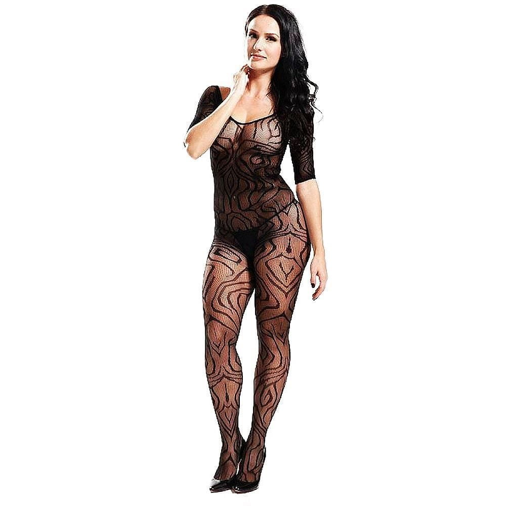 MACACÃO VANESSA RENDADO BODYSTOCKING IMPORT