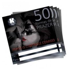 CARTÃO 50 FORMAS DE PRAZER FEMININO 1 UNIDADE K GEL