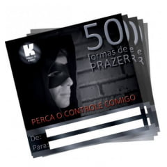 CARTÃO 50 FORMAS DE PRAZER MASCULINO 1 UNIDADE K GEL