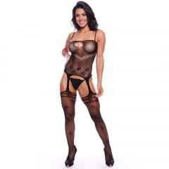 MACACÃO EDUARDA RENDADO BODYSTOCKING IMPORT